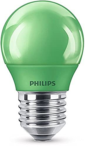 Philips Bombilla LED E27, 3.1 W, verde