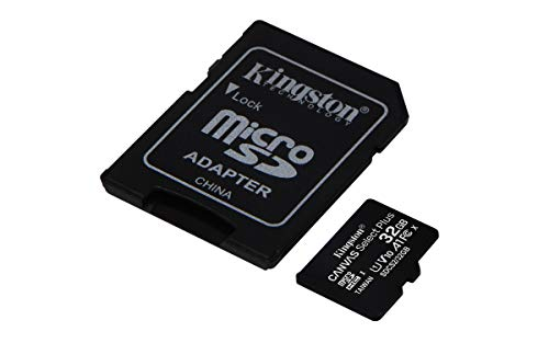 Kingston Canvas Select Plus microSD Card SDCS2/32 GB Class 10 (SD Adapter Included)