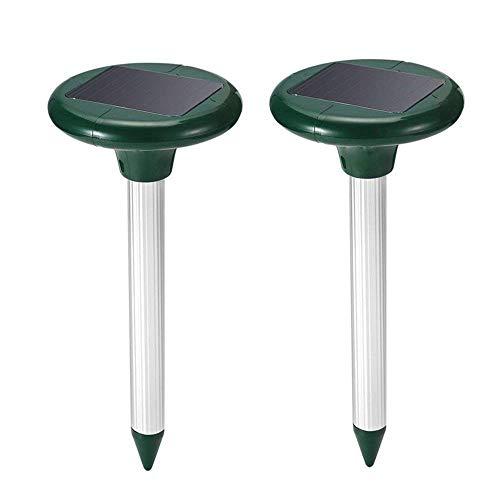 2 Pezzi Solare Repellente per Talpe Ultrasuoni IP65 Impermeabile Scaccia Talpe Anti-Talpe y Serpent Repellente ad Ultrasuoni per Topi Solare per Talpe per Giardino, Prato, all aperto