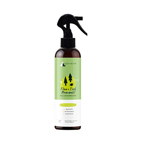 kin+kind Flea and Tick Spray for Dogs & Cats (12 fl oz) -...