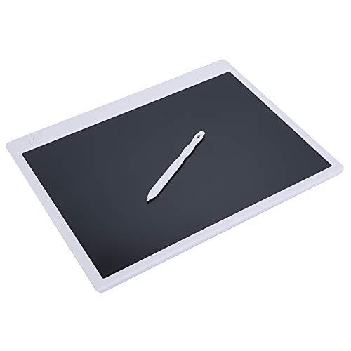 fuwinkr Tableta de Escritura LCD de 16 Pulgadas, Tablero de Dibujo de Escritura A Mano En Color con Una FuncióN de Borrado de Teclas Tablero de Escritura ElectróNico Reutilizable Borrable(Blanco)