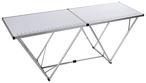 TABLE A TAPISSER ALUMINIUM GRADUEE TAPISSIER PRO PLIABLE PLIANTE ENCADREMENT CADRE/CONTOUR EN ALU PIEDS METAL VALISE 2M