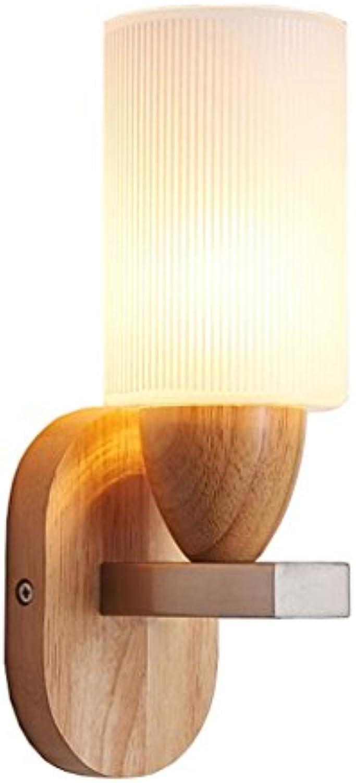 WSXXN Moderne minimalistische Eiche Wandleuchte kreative Wohnzimmer Schlafzimmer Wandleuchten Energiesparlampe Massivholz Flur Korridor Beleuchtung Leuchte