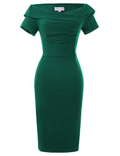 Belle Poque Yafex Damen Kleider Knielang Causal Kleid 1950er Dress 38