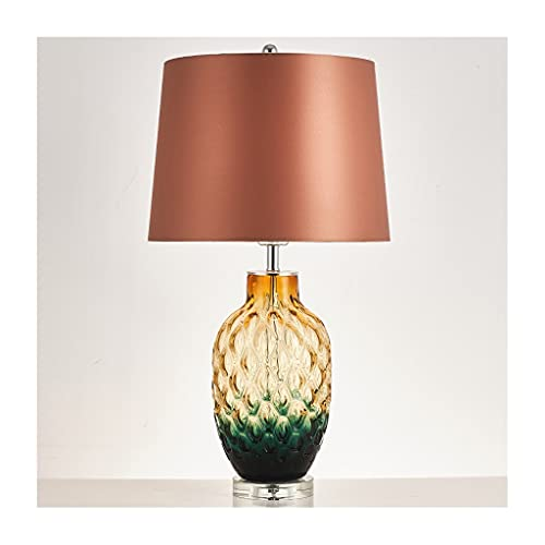 zxb-shop Crystal Table Lamp Modern Fashion Table Lamp Glass Pineapple Creative Decorative Lamp Nordic Living Room Bedroom Bedside Lamp Crystal Lamp Decorative (Color : B)