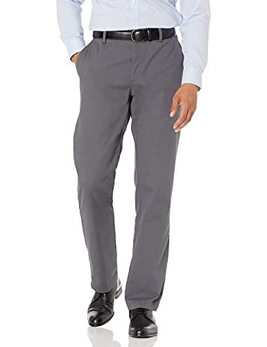 Amazon Essentials - Pantaloni chino da uomo, dritti, resistenti alle pieghe, parte anteriore piatta,...