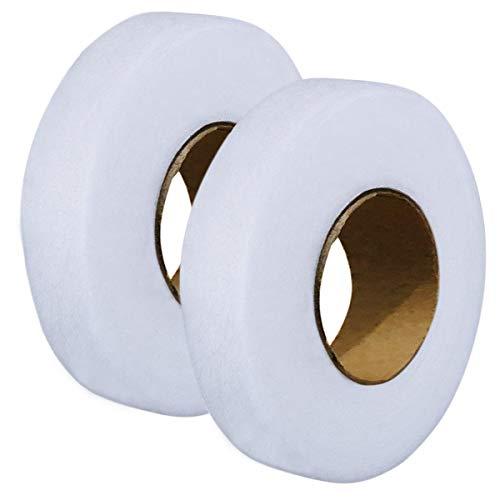 2pcs Hem Iron-On Adhesive Tape Fabric Fusing Tape Each 27 Yards Length,...