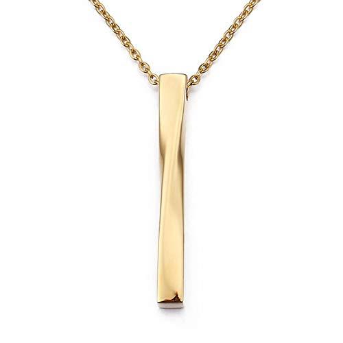 Beydodo Herren Kette mit Anhänger Poliert Geometrie Halskette Freundschaftskette Kette Gold