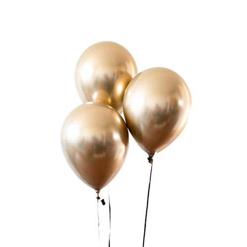 Gold And Black Latex Balloon Marble Metallic Balloon Chrome Balloons Wedding Adult Birthday Party Photography Props Decor,10 Pcs Gold