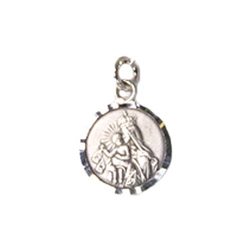 Medalla Virgen del Carmen 15 MM Plata DE Ley