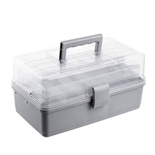 Kikier Haushalt Medikamentenbox Mehrlagige Erste-Hilfe-Box Aufbewahrungsbox Medikamentenschrank Medikamentenbehälter