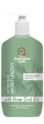 Australian Gold Australian Gold After Sun Moisturizer With Hemp Seed Oil, 16 Ounce Enriched With Vitamins A, E, and C Lightweight Formula That Dries Quickly No Dyes, Paba, or Alcohol, 16 Ounce