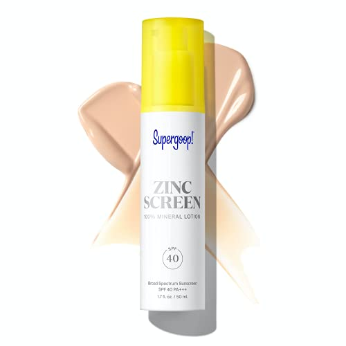 Supergoop! Zincscreen - 1.7 fl oz - SPF 40 PA+++ 100% Mineral Face Lotion & Broad Spectrum Sunscreen - Non-nano Zinc Oxide for Daily UV Protection - Lightweight, Blendable Formula with Pink Hue