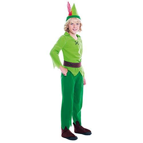 Disfraz Peter Pan NioTallas Infantiles de 3 a 12 aos(Talla 3-4 aos) | Disfraces Carnaval Cuentos Personajes Fantasa Nios