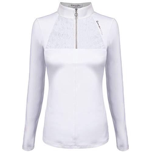 CAVALLO Damen langarm Turniershirt NADIRA, white, 40