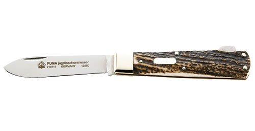 Puma Hunting Pocket Knife Jagdtaschenmesser Stag Handle German Made Folder