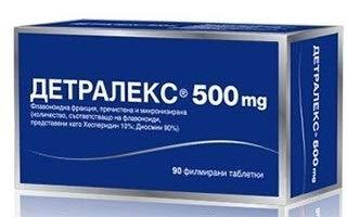 Detralex 500 mg x 90 Tabletten - bei Krampfadern; Schmerz & Gewicht in den Beinen; Hämorrhoiden.