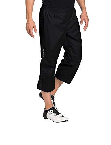 VAUDE Herren Drop 3/4 Pants Regenhose für Radsport Hose, Black, 48 - 4