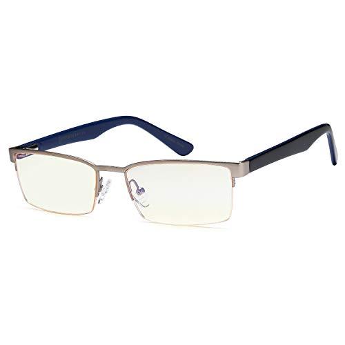 Gamma Ray Blue Light Blocking Gaming Glasses - Amber Tint Anti Glare Eye Strain Digital Screens Computer TV Cell Phones - Not Magnified