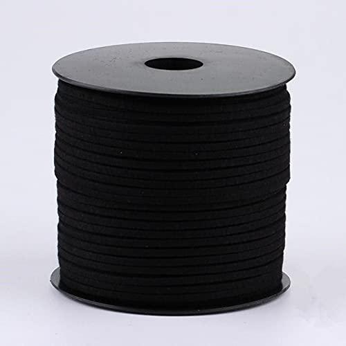 DANMO 5 Metros Cuerda Plana Hilo de Cuero Cuerda Cuerda Hecha a Mano Pulsera Collar Haciendo hallazgos 3 mm