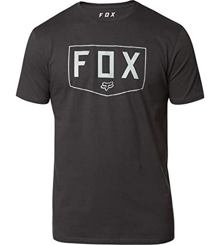 Fox Racing Camisetas Shield Premium para hombre, grande, negro/verde