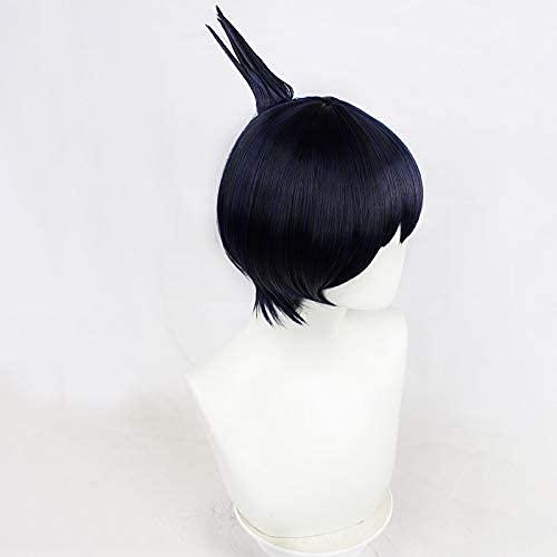 ZIFUNMUR Hayakawa Aki Wig Anime Chainsaw Man Cosplay Wig Blue Short Straight Synthetic Hair Halloween Party Props Accessory