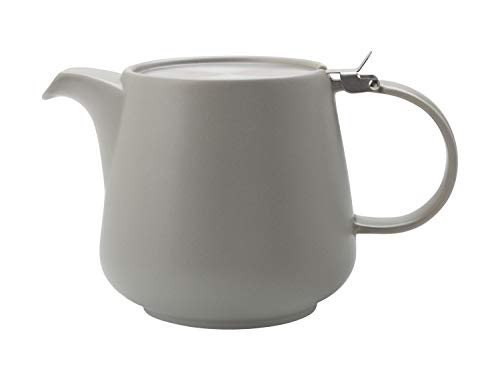 Maxwell & Williams Tint Teekanne 1200 ml, Hellgrau, Keramik/Edelstahl