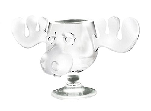 National Lampoon's Christmas Vacation Clear Glass Griswold Moose Mug 8 oz.