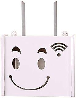 Multimedia Set-Top Box WiFi Caja De Almacenamiento De Pared Z/ócalo Blindaje Caja Dormitorio S/ólido Router De Madera Estante De Almacenamiento De TV Gabinete DV Decoraci/ón De La Pared del Estante