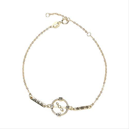 LFWQ Fashion Originele Sieraden Hand Ornamenten Europese en Amerikaanse Accessoires Digitale Klok Vorm Armband