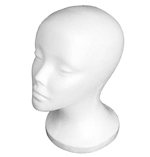 Testa di Manichino Polistirolo di femminile per Parrucche,Occhiali, cappelli,Cuffie
