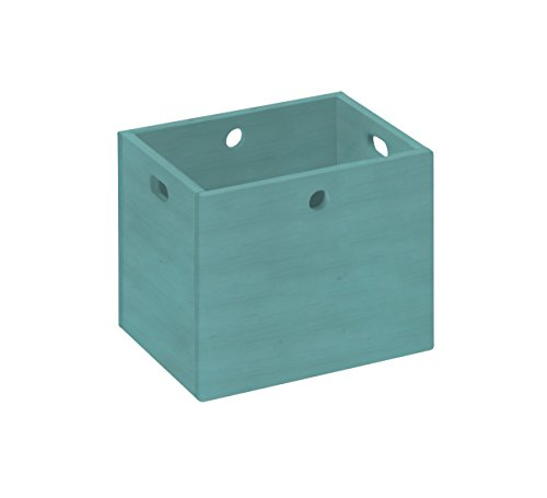 BioKinder 22181 Lara opbergbox organizer box organizer box groot massief hout grenen 30 x 38 x 30 cm blauw gelakt
