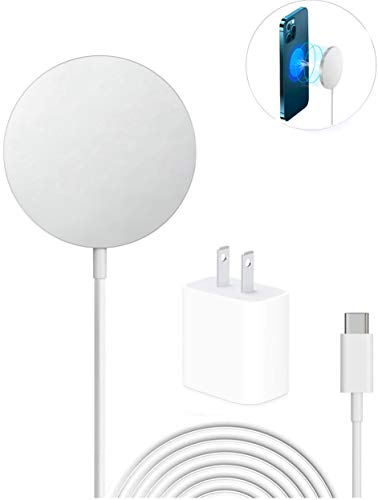 Magnetic Wireless Charger for iPhone 12/12 Mini/12 Pro/ 12 Pro max and Apple AirPods 2 /pro (with USB-C 20W Adapter) iPhone Stand magsaf-e Charger Fast Charging Pad for Google/Samsung