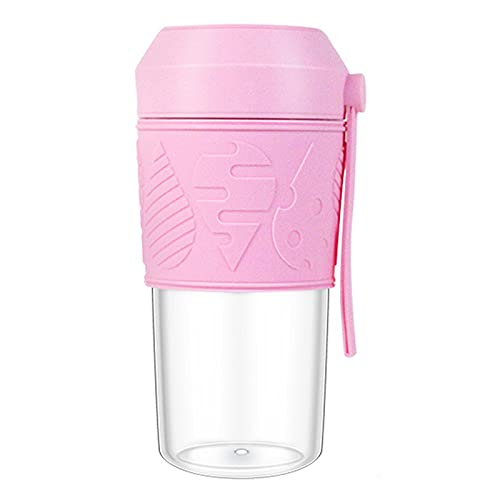 Personal Blender for Shakes And Smoothies, 400ML Personal Size Blender, Fruit Juice, Milk Shakes with Travel Cup And Extre Lid, for Home, Office, Sports, Travel, Outdoors,Pink