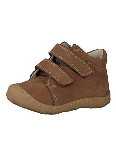 RICOSTA Pepino Unisex - Kinder Stiefel Chrisy, WMS: Mittel, Kinder-Schuhe Klett-Schuhe Spielen Freizeit leger Boots Leder Kids,Curry,23 EU / 6 UK