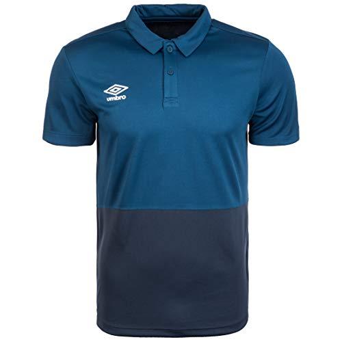 UMBRO Poly Poloshirt Herren blau/dunkelblau, L