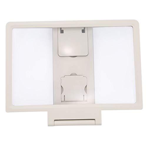 Formulauff 1 Lupa 3D portátil para móvil xiaomi Samsung lenovel Tablet vídeo Titular de la Pantalla de vídeo Plegable Expander – Blanco
