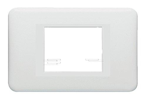 CROSS-Placca ABS scatola rett. 2M bianca