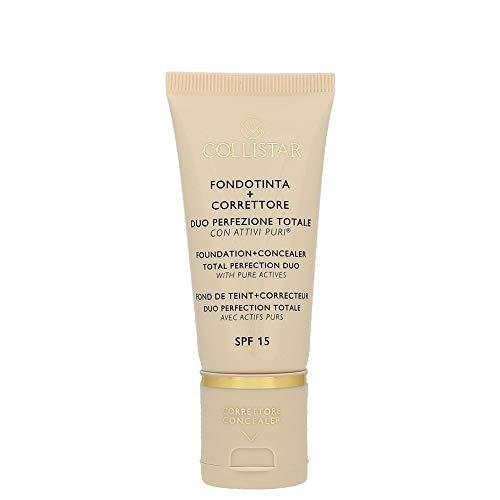 Collistar Fondotinta + Correttore Duo Perfezione Totale (SPF 15, Tonalità 3.1, Nude) - 30 ml.