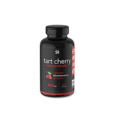 Tart Cherry Concentrate - Made from Montmorency Tart Cherries; Non-GMO & Gluten Free (60 Liquid Softgels) by Sports Research