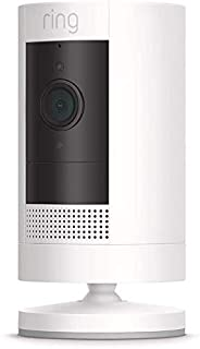 Ring Stick-Up Battery Cam -Wi-Fi Smart Home Security Camera White- Rechargeable Battery- Two way talk - Full HD live vide...