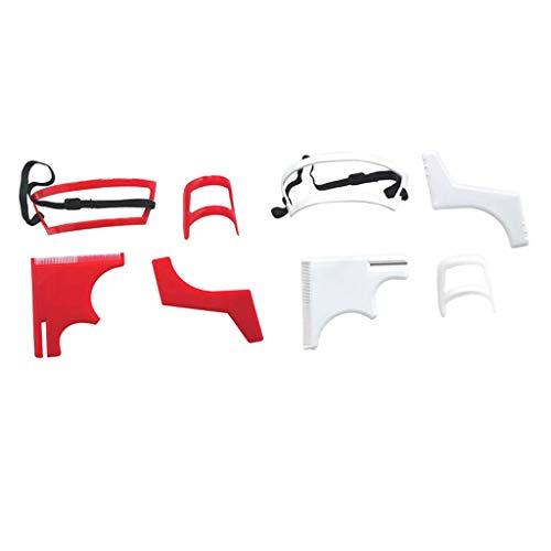 #N/A 2 Set Ziegenbart Schablone Schnurrbart Bart Styling Vorlage Bart Former Rasierwerkzeug Set