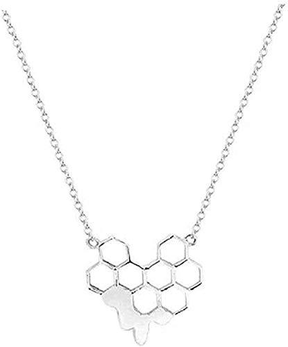 ZGYFJCH Co.,ltd Collar de diseño de Moda Cadena de Panal Joyería de Tendencia Simple Collar Colgante Niñas Niños Regalo