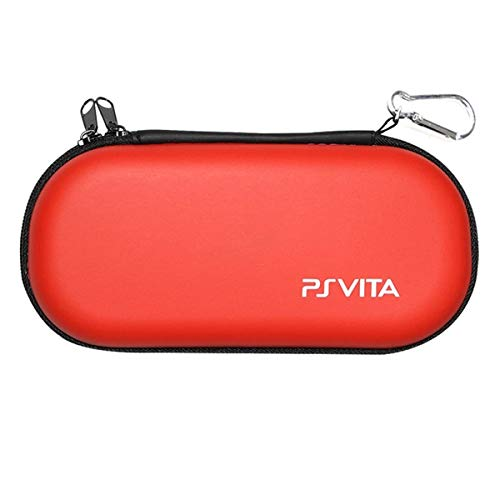 ELIATER Playstation Vita Carring Case Portable Travel Pouch Cover Zipper Bag Compatible for Sony PSVita 1000 2000 Game Console (Red)