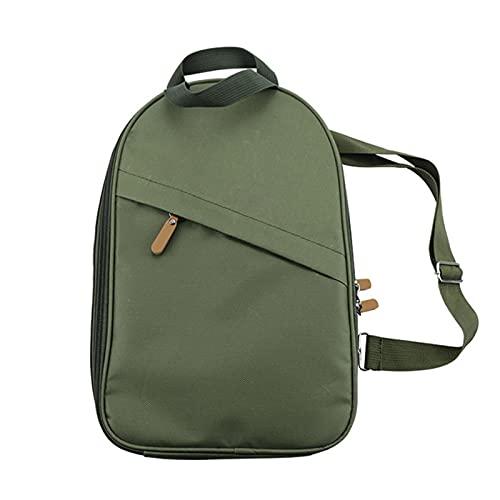 Picknick Camping Geschirr Aufbewahrungstasche Grill BBQ Picknick-Kit Tragetasche Speichertasche Kochutensilien Organizer Handtasche (Color : Army Green)