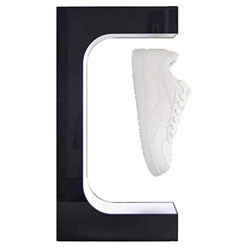 WYJU Soporte de exhibición de acrílico Soporte de Zapato Flotante magnético Soporte de Zapatilla Exposiciones de rotación Libre de 360 ° Soporte de Zapato Flotante