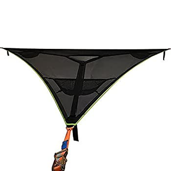 N.R Giant Aerial Camping Hammock - Multi Person Portable Hammock 3 Point Outdoor Triangle Hammock for Kids Tree House Air Sky Tent for Backpacking Travel Beach Backyard Patio Garden