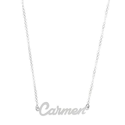 Córdoba Jewels   Gargantilla de Plata de Ley con diseño Carmen Silver de 36x10mm.Largo 40cm.con Cadena para Ajustar.