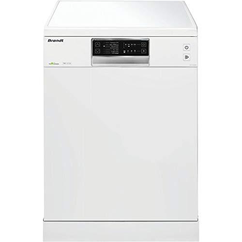 Brandt DFH14524W – Lave-Vaisselle - Autonome - 14 couverts - 7 Programmes - Départ Différé - 44dB - Blanc - Classe Énergétique A++ [Classe énergétique A++]