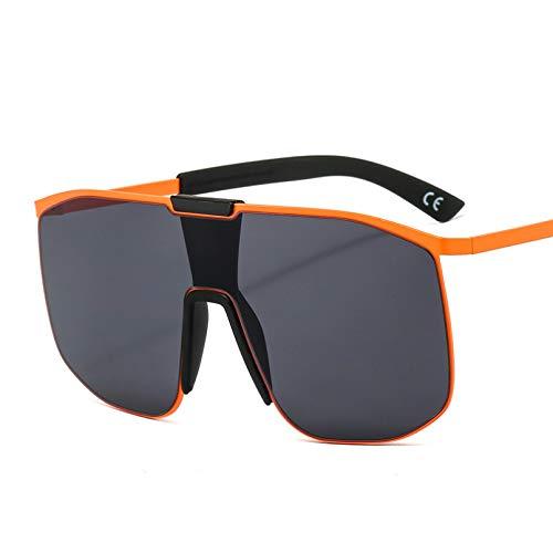 SXRAI Gafas de Sol de Gran tamaño para Mujer, Gafas de Sol cuadradas de una Pieza, anteojos Femeninos,C1
